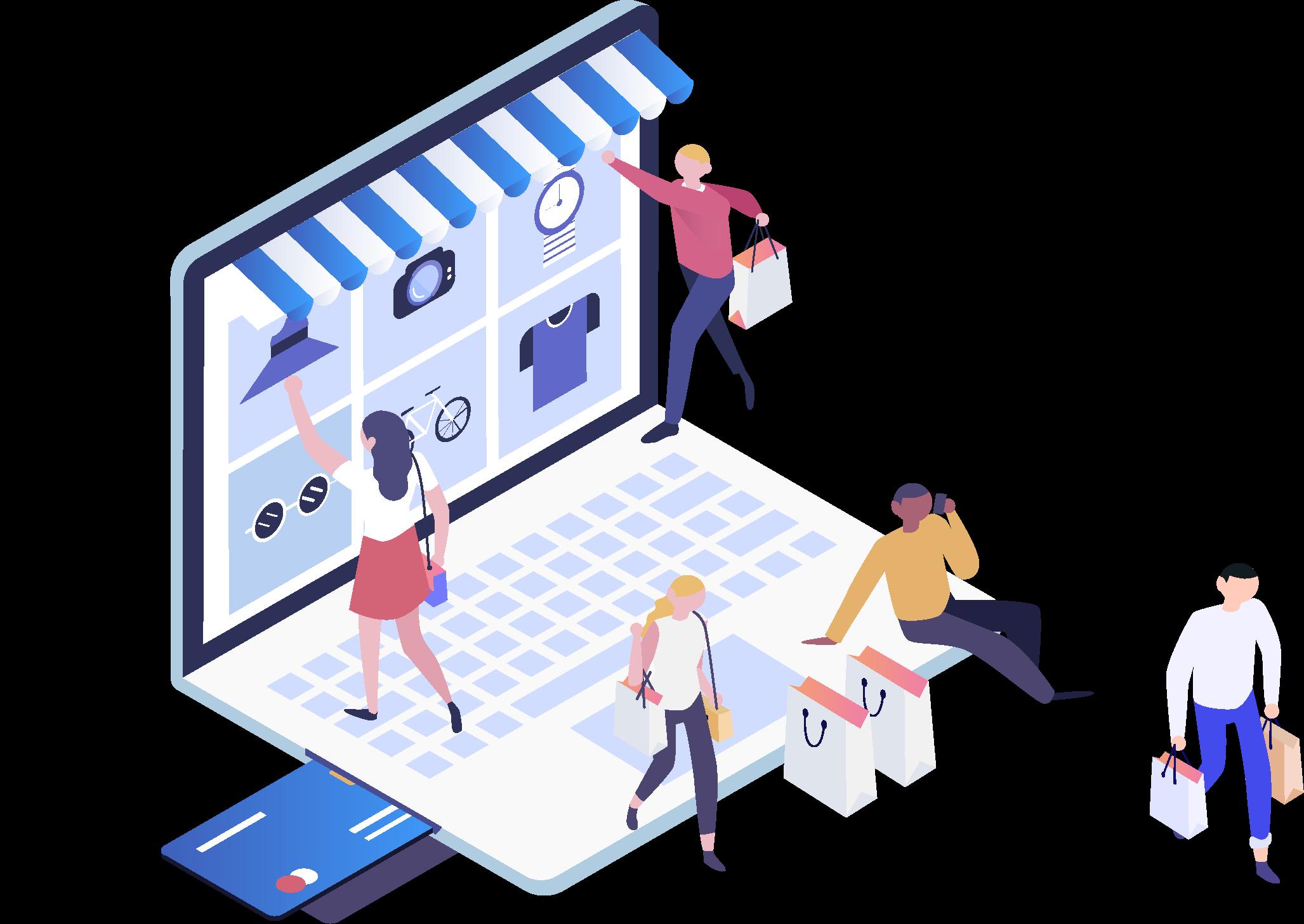 Winkelen op een webshop